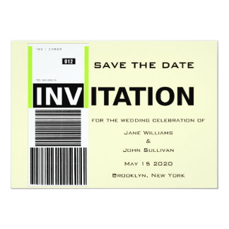 Airport Baggage Claim Theme Wedding Save The Date Card