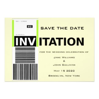 Airport Baggage Claim Theme Wedding Save The Date Personalized Announcements