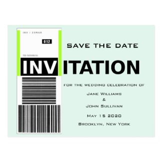 Airport Baggage Claim Theme Wedding Save The Date Postcards