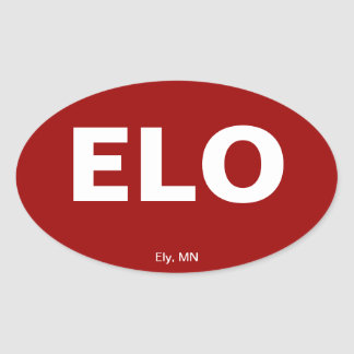 Airport Code - Ely, Minnesota Oval Sticker