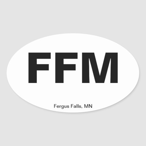 Airport Code - Fergus Falls, Minnesota Oval Sticker