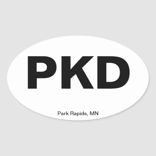 Airport Code - Park Rapids, Minnesota Sticker