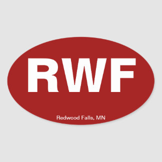 Airport Code - Redwood Falls, Minnesota Oval Sticker