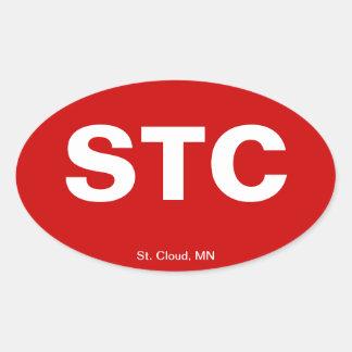 Airport Code - St. Cloud, Minnesota Oval Sticker