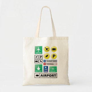 Airport concept canvas bag
