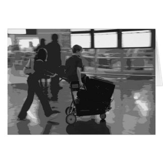 Airport Departure B&W Card