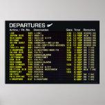 Airport Departures Poster