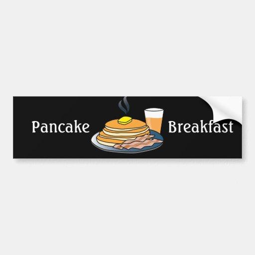 Airport Fundraiser Pancake Breakfast Bumper Stickers
