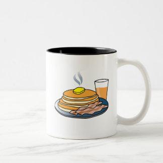 Airport Fundraiser Pancake Breakfast Two-Tone Coffee Mug