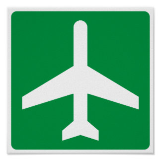 Airport Higway Sign Posters