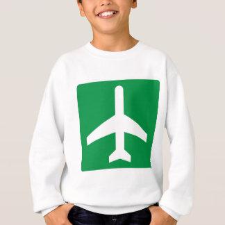 Airport Higway Sign Sweatshirt