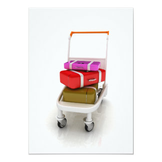 Airport Luggage Trolley Invitations
