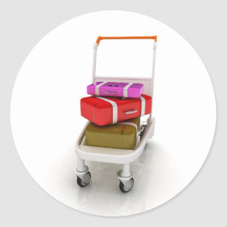 Airport Luggage Trolley Stickers