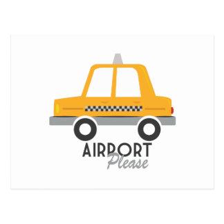 Airport Please Postcard