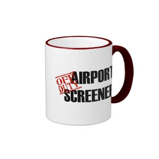 Airport Screener Coffee Mugs