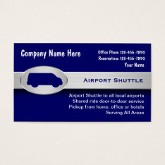 Airport Shuttle Business Cards at Zazzle