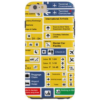 Airport Signage Tough iPhone 6 Plus Case