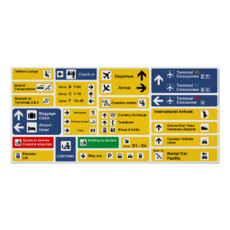 Airport Signs Poster