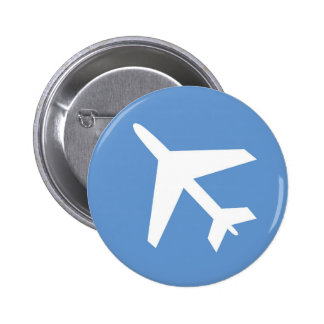 Airport symbol button 2 inch round button