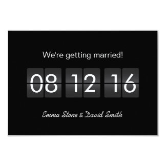 Airport Terminal Display Save the Date Cards
