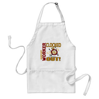 Airport Worker Clocked Out Apron