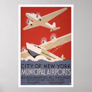 Airports municipal, 1936 póster