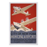 Airports municipal, 1936 posters