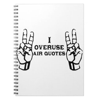 Airquotes Note Book