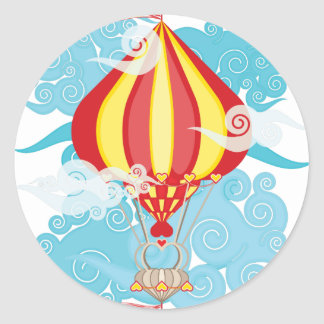 Airship-02.png Classic Round Sticker