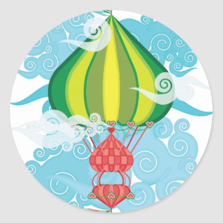 Airship-03.png Classic Round Sticker