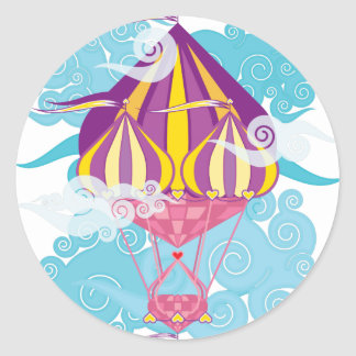 Airship-06.png Classic Round Sticker