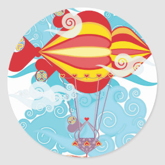 Airship-07.png Classic Round Sticker