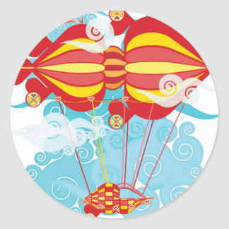 Airship-08.png Classic Round Sticker