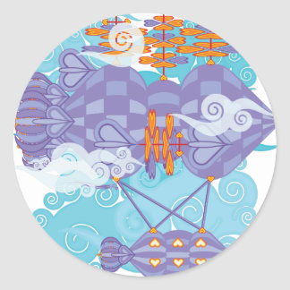 Airship-11.png Classic Round Sticker