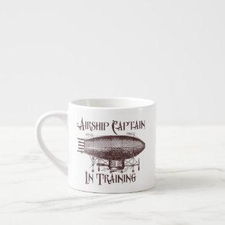 Airship Captain in Training, Steampunk Espresso Cup