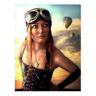 Airship Captain Postcard