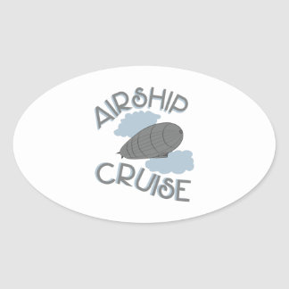Airship Cruise Oval Sticker