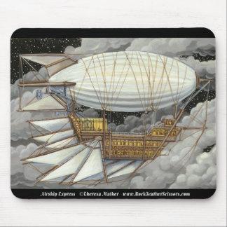 Airship Express Steampunk Blimp Mousepad