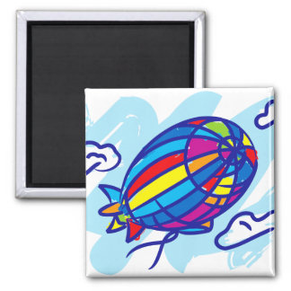 Airship_Journey 2 Inch Square Magnet