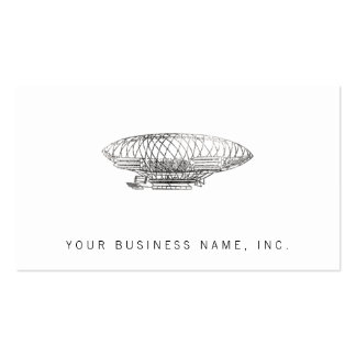 airship (letterpress style) Double-Sided standard business cards (Pack of 100)