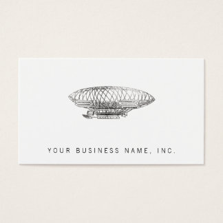airship (letterpress style) business card
