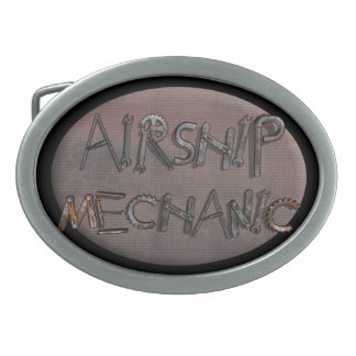 Airship Mechanic Oval Belt Buckles