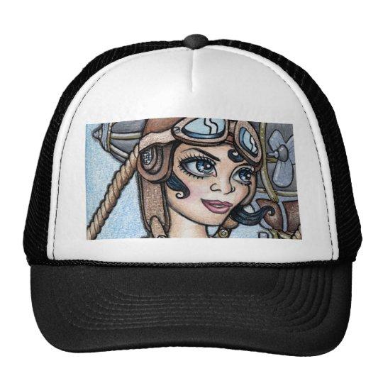 Airship Pilot Steamface Trucker Hat