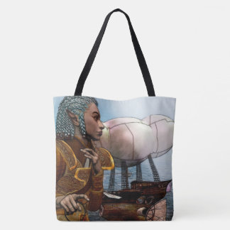 Airship Steampunk Tote Bag