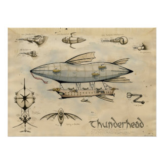Airship Thunderhead Print