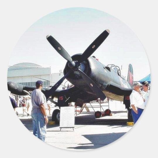 Airshow Airplanes Classic Round Sticker