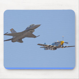 airshow f-16 & p-51 mouse pad