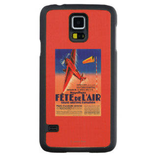 Airshow Featuring Haryse Hilsz Promotional Poste Carved Maple Galaxy S5 Slim Case