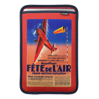 Airshow Featuring Haryse Hilsz Promotional Poste Sleeve For MacBook Air