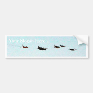 Airshow Fighters Airplanes Car Bumper Sticker